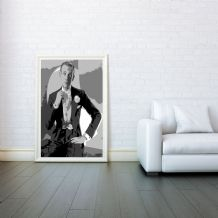 Fred Astaire, Decorative Arts, Prints & Posters,Wall Art Print, Poster Any Size - Black and White Poster